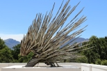 Porcupine sculpture at Boekenhoutskloof Winery in South Africa.