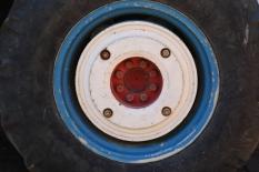 Tractor Wheel at Boekenhoutskloof in Franschhoek in South Africa.