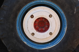 Tractor Wheel at Boekenhoutskloof in Franschhoek in South Africa.