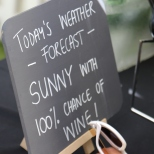 Sign at the Stellenbosch Wine Festival in South Africa.