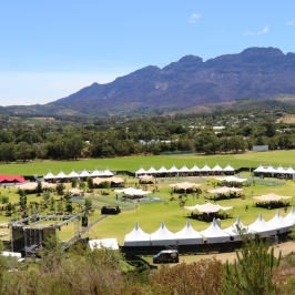 View from above of Stellenbosch Wine Festival