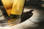 Lomond wine bottles chilling in water at the estate in Cape Agulhas South Africa.