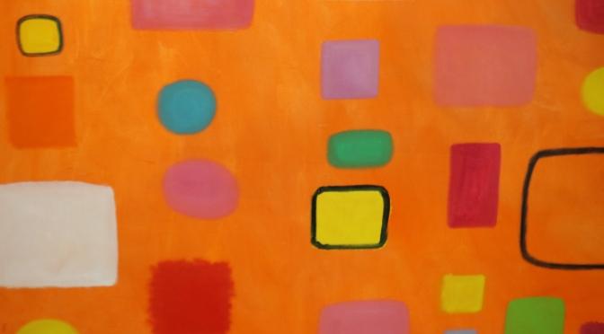 Colourful art at Leeuwin Estate.