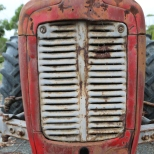 A Tractor nose at Danshi Rise Wines in Mclaren Vale Australia.