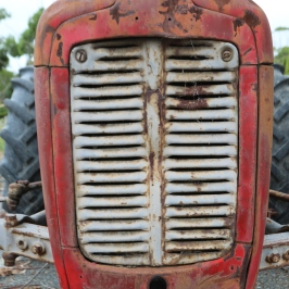 A Tractor nose at Danshi Rise Wines in Mclaren Vale Australia.