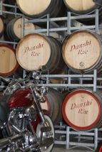 Barrels at Danshi Rise winery in McLaren Vale Australia.