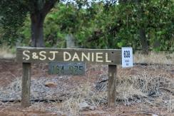S&SJ Daniel winery sign in Mclaren Vale Australia.