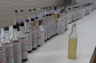 The Yalumba winery tasting laboratory in the Barossa Valley Australia.