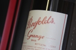 Penfolds Grange wine bottle label.
