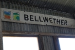 Bellwether Wines banner at the woolshed in Coonawarra Australia.