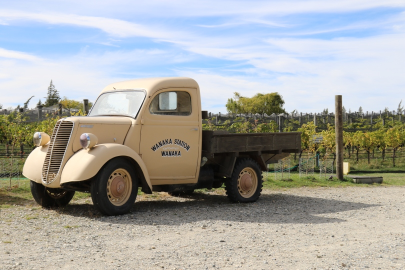 An old Wanaka Station truck at the Rippon Vineyard in New Zealand.