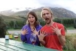 Grape pickers Nick and Ashley do an interview for the 80 wines project.