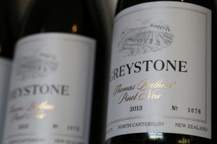Greystone Thomas Brothers Pinot Noir wine label.