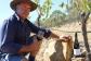 David Jones in a vineyard at Dalwhinnie Wines in Australia.