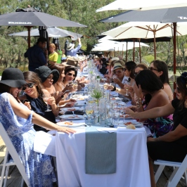 Regional World Longest Lunch at Tahbilk Estate Australia.