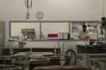 Campbell Meeks working in the laboratory of Charles Sturt University in Australia.