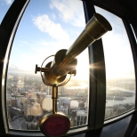 Telescope at Sydney Sky Tower Australia.