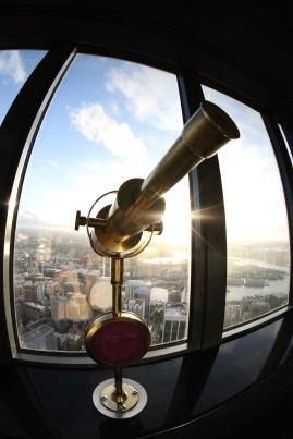 Telescope at Sydney Sky Tower Australia.