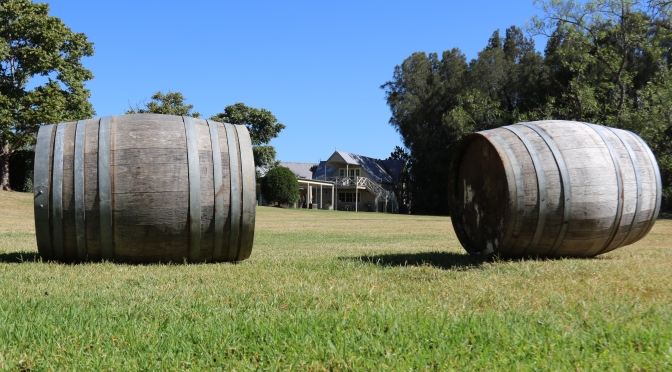 Barrels at Pepper Tree Wines.