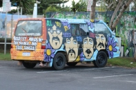 Camper van art in Byron Bay Australia.