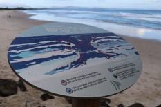 Rip current info at Byron Bay Australia.