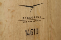 An embossed Peregrine wine barrel.