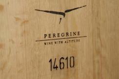 An embossed Peregrine wine barrel.