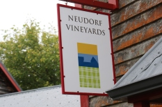 Neudorf Vineyards sign in New Zealand.