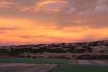 A pink sunset at Escarpment in Martinborough, New Zealand.