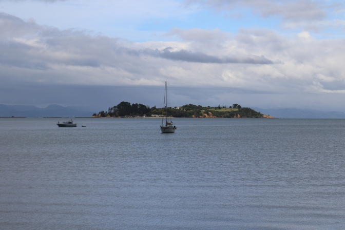 Pakatoa Island from Waiheke Island in New Zealand.