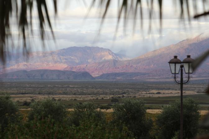 Cafayate scenery at Piatelli wines in Argentina.