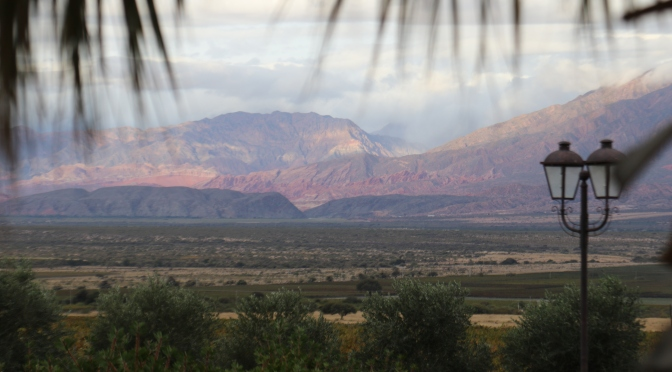 Cafayate scenery at Piatelli wines in Argentina.