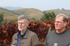 The Paule brothers visiting the Kingston Family Vineyards in Chile.