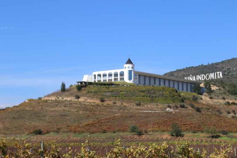 Indomita winery on the hillside in the Casablanca Valley in Chile.