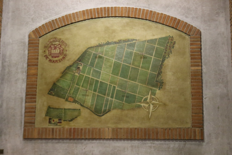 A map of the Maipo Valley at De Martino Wines.
