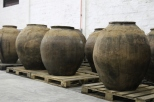 Clay pots for fermenting wine at the De Martino Winery in the Maipo Valley in Chile.