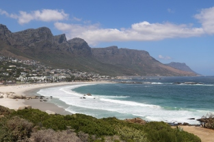 The beach at Camps Bay in Cape Town South Africa.
