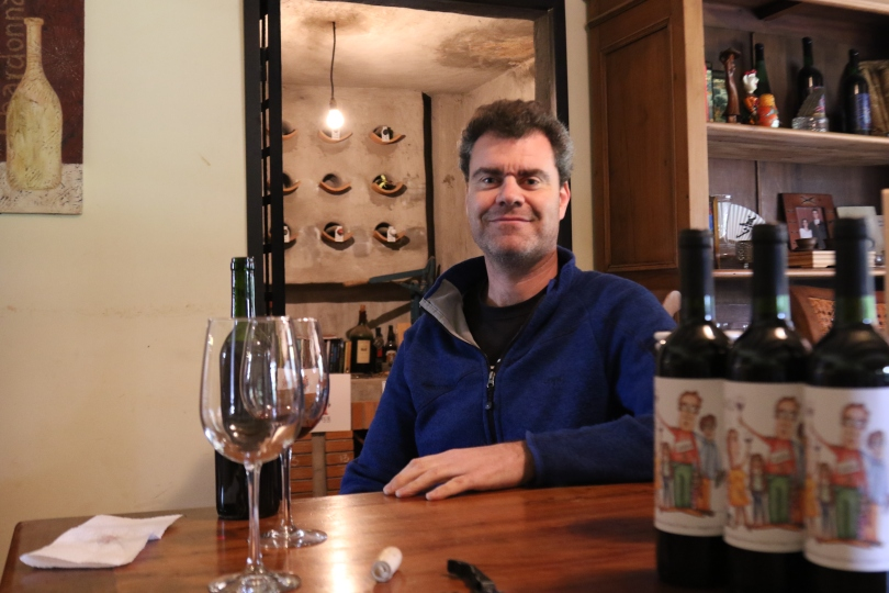 Guy Hooper of Caviahue Wines does a wine tasting with Montager Productions at his home in Maipo Valley in Chile.