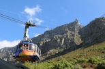 The VISA cable car on Table Mountain in Cape Town, South Africa.