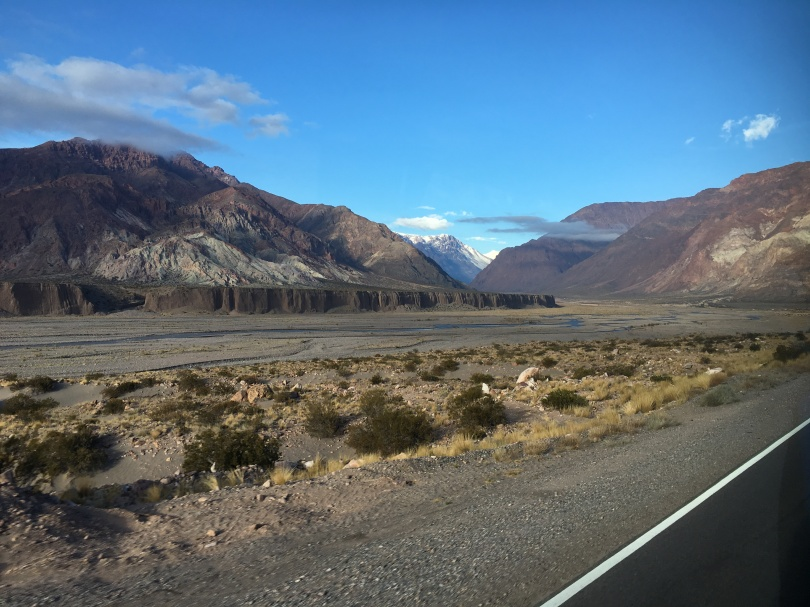 A view of Mendoza Province on the road towards Chile.
