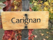 A carignon sign on a tour of the Concha Y Toro winery in Chile.