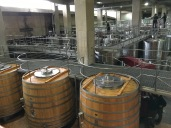 Inside the Montes Wines winery at Apalta in Chile.