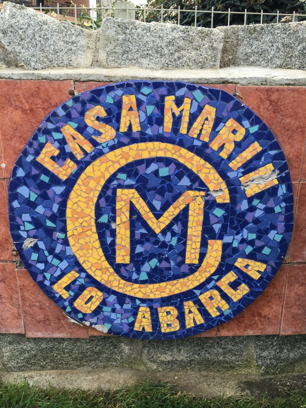 Casa Marin Logo outside the winery in Lo Abarco in the San Antonio Valley in Chile.